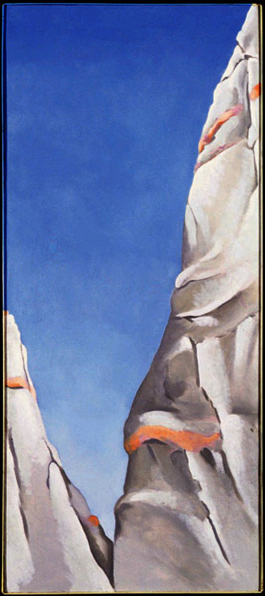 All I can see when I look at this is the profile of an Elder: 'Blue Sky' 1941 - Georgia O'Keeffe #ArtHistory