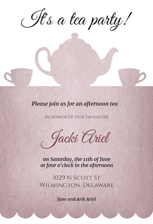 Tea Party - Printable Party Invitation Template