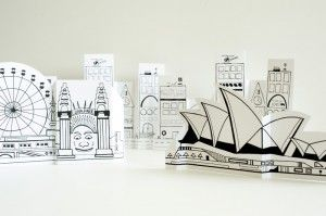 """Free printable paper cities--buildings, vehicles, people...even the Sydney opera house! Must include this in our """"architecture"""" lessons!"""