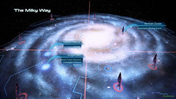 Mass Effect 3 galaxy map interface