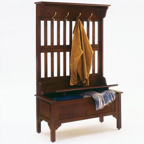 Home Style Full Hall Tree and Storage Bench