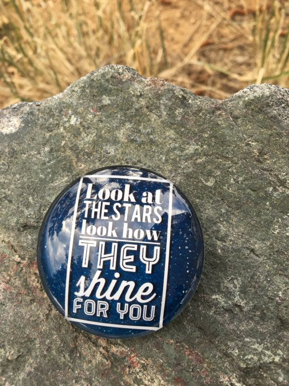 Look At The Stars Look How They Shine For You COLDPLAY song lyrics quote Large Magnet