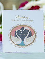 Personalisiert Gefaltet Hochzeits-Einladungen Einladungskarten-1 Stück / Set Märchenthema Perlenpapier Schleifen