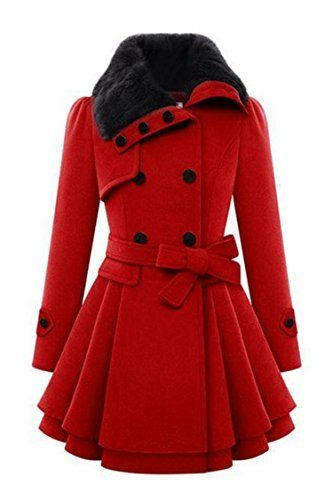 New Trending Outerwear: Zeagoo Women Long Sleeve Faux Fur Lapel Double-Breasted Thick Wool Coat, Red, Medium. Zeagoo Women Long Sleeve Faux Fur Lapel Double-Breasted Thick Wool Coat, Red, Medium  Special Offer: $57.99  422 Reviews 4 size Available: Small: Shoulder–34cm/13.3″;Sleeve–54cm/21.1″;Bust–82cm/32″;Waist–72cm/28.1″;...