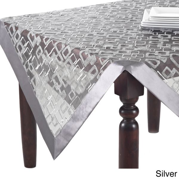 geometric design table linens topper runner or tablecloth