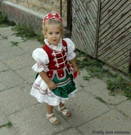 Hungarian girl in traditional dress