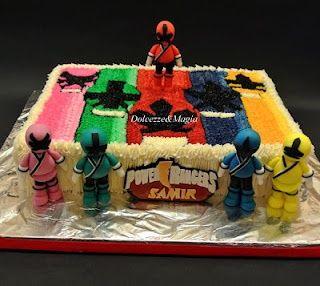 Power Rangers Cake cakepins.com