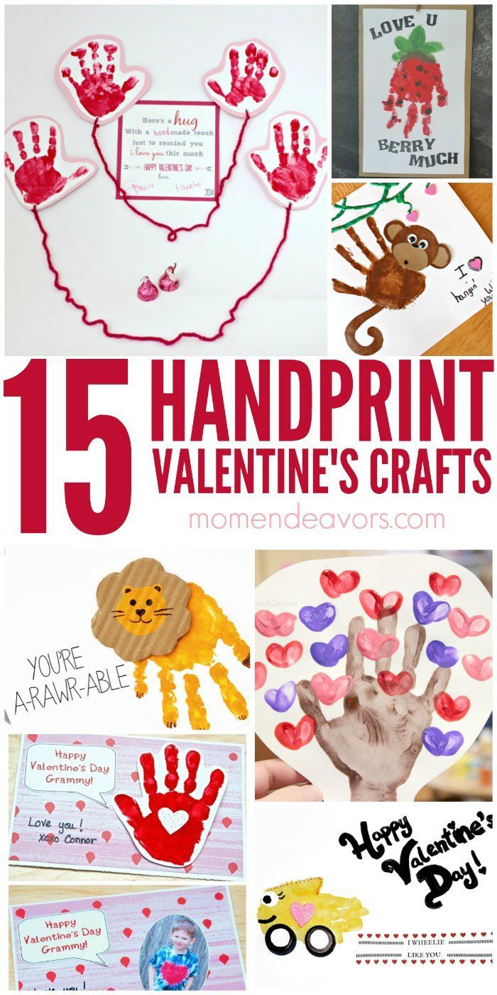 15+ adorable handIprint Valentine's Day crafts!