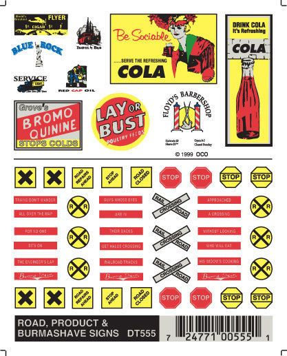 NEW Woodland Train Decal Sheet Data Warning Labels & Commercial Signs DT557 #WoodlandScenics