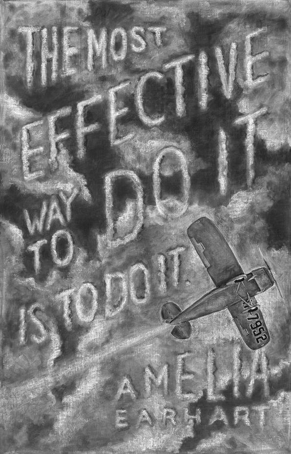 Amelia Earhart Chalkboard by DANGERDUST, via Behance