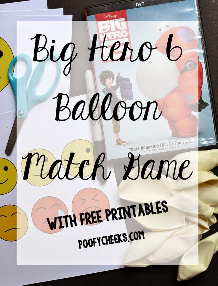 Big Hero 6 Balloon Matching Game - free printables. Big Hero 6 DVD @Target #BigHero6MovieNight #ad