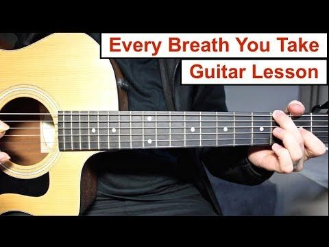 Every Breath You Take The Police Guitar Lesson Tutorial How To
