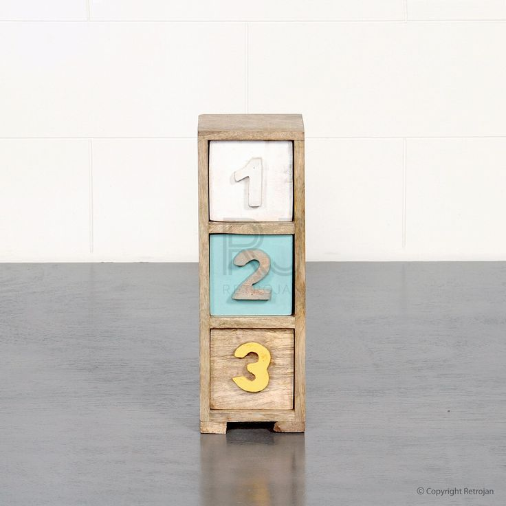 Stella Numbered Chest - Coloured | $29.00