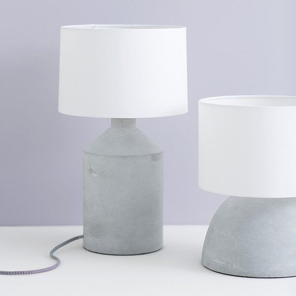 Oscar concrete table lamp at Lilly and Lolly - The Third Row