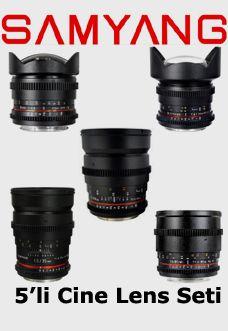 Canon EOS uyumlu Samyang Sinema Serisi Lens Seti: Canon 5D Mark 3, Canon 5D Mark 2 , Canon 6D,  Canon 7d, 60D diğer bütün EOS Modelleri ile uyumlu bayonet.  Samyang 8mm T3.8 Balık Gözü   Samyang 14mm T3.1 Ultra Geniş Açı Cine Objektif  Samyang 24mm T1.5 Geniş Açı  Samyang 35mm T1.5 Geniş Açı   Samyang 85mm T1.5 Tele  HPRC 2600 Özel Hard Case Taşıma Çantası  Rezervasyon & Bilgi için: 0533 548 70 01 info@filmekipmanlari.com  http://filmekipmanlari.com/kiralik-dslr-samyang-sinema-lens-seti/