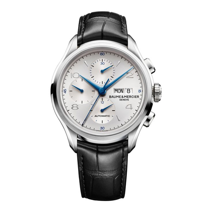 The perfect #chronograph embodies innovation, perfection and beauty. This #Clifton Chronograph has the hallmark of Baume & Mercier quality. #baumeetmercier #SIHH