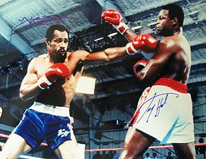 Larry Holmes & Ken Norton Signed 16X20 Photo - Holmes Vs Norton