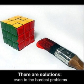 There are always solutions...Problems Solving, Quotes, Funny Pictures, Solutions, Life Lessons, Cubes, Funny Stuff, Be Creative, Funny Posters