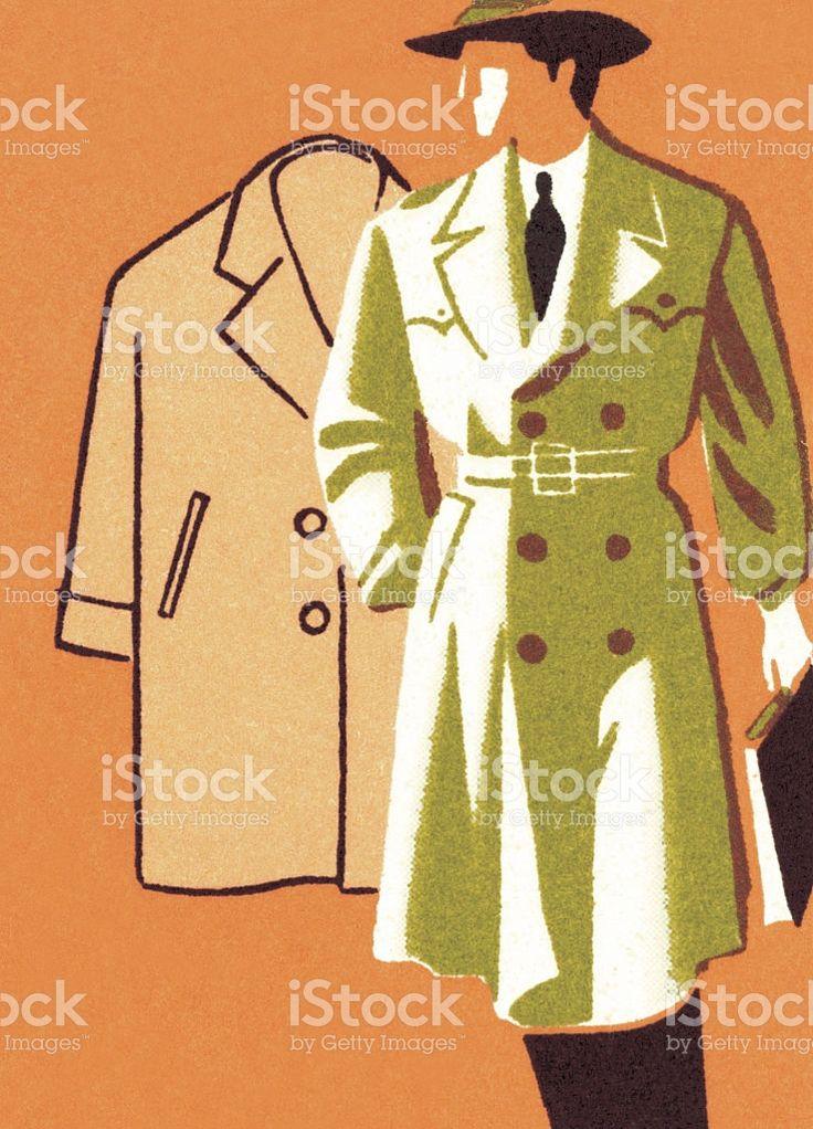 Elegante hombre en gabardina larga