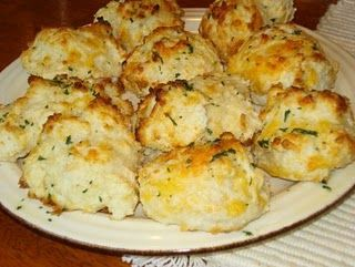 Bisquick Garlic Cheese biscuits - LAZ notes:  I added 1/4 cup melted butter to mix and sprinkled a little cheddar cheese on top of each before baking.  This recipe made 12 biscuits.  These are DELICIOUS!!!!  Super easy. Favorite!