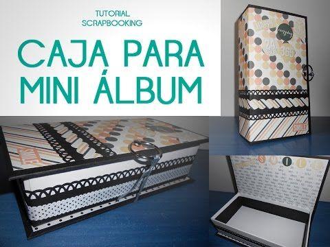 Scrapbooking: Mini album in box (English subtitles) - YouTube