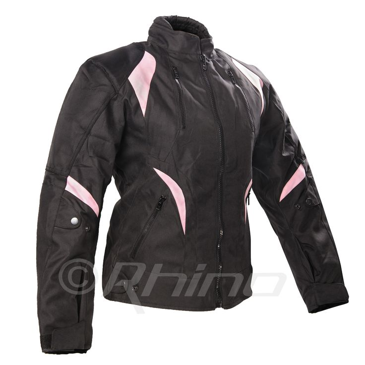 Ladies Cordura Jacket with Pink detail and Removable Armour