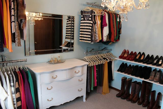wardrobe room/closet renovation on a budget. via penny pincher fashion blog Bryn will have to turn his guest room into this with a Murphy bed or something if we ever plan to live in his current house together!