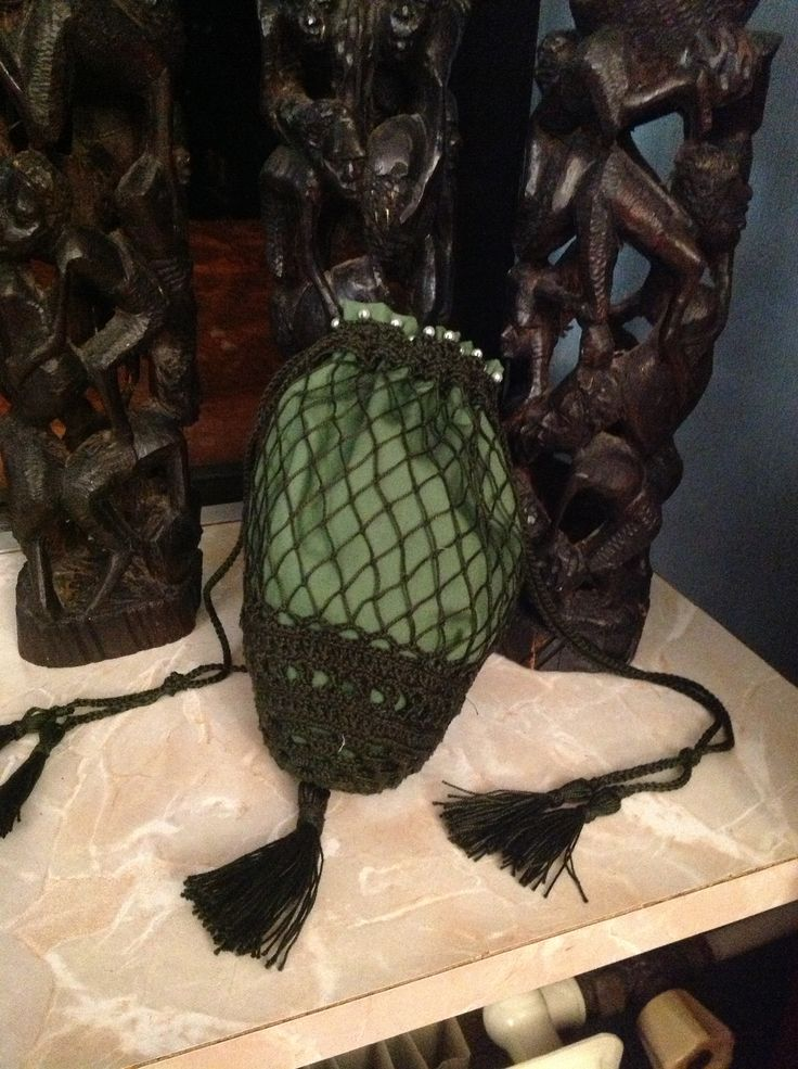Regency inspired reticule. Cotton. By Miss Galindo (Sold)