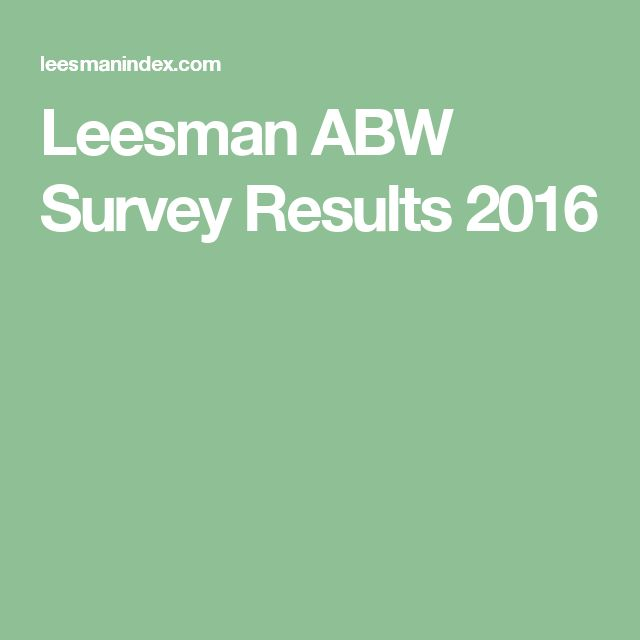 Leesman ABW Survey Results 2016