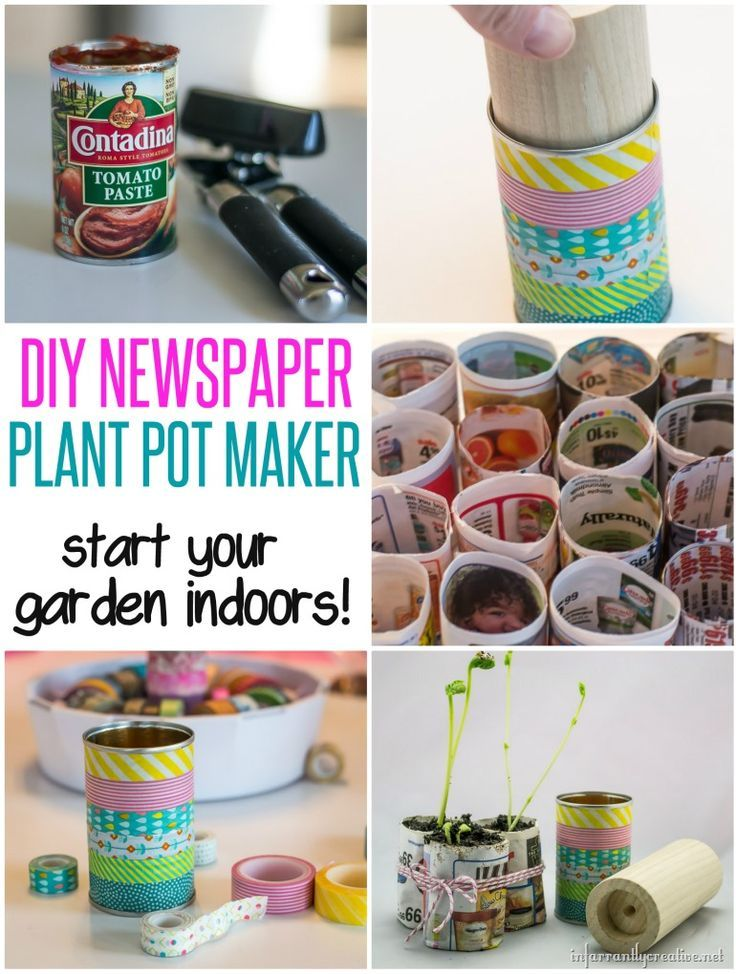 DIY Seed Starter Kit ~ Save money when you start your seeds indoors by making your own plant pots out of newspaper. Since newspaper is biodegradable, you just set the newspaper right into the ground when you are ready to plant!