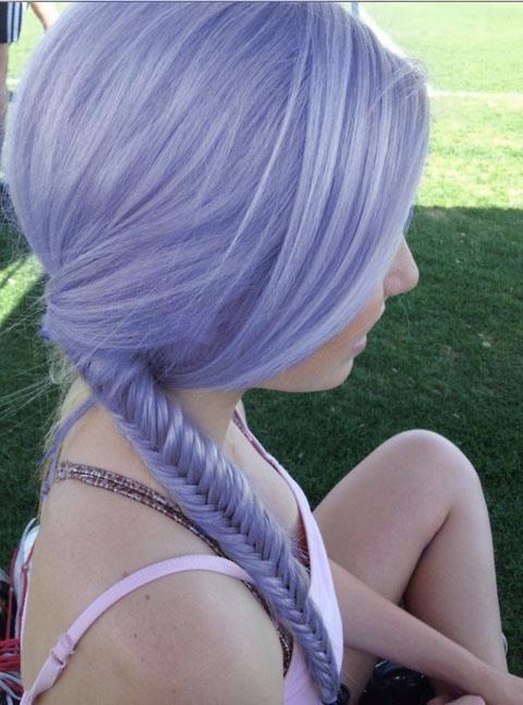 Violet pastel hair