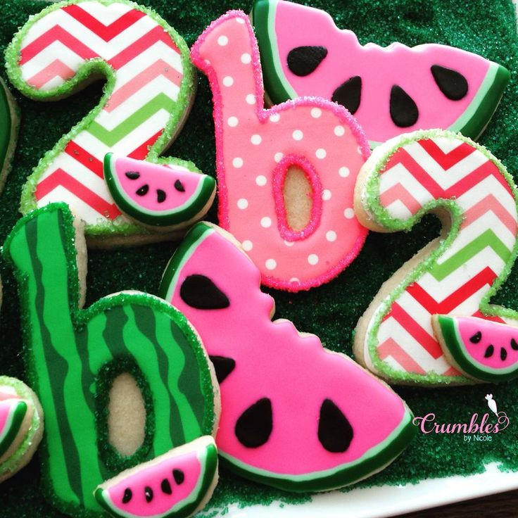 Watermelon themed 2nd Birthday | Cookie Connection