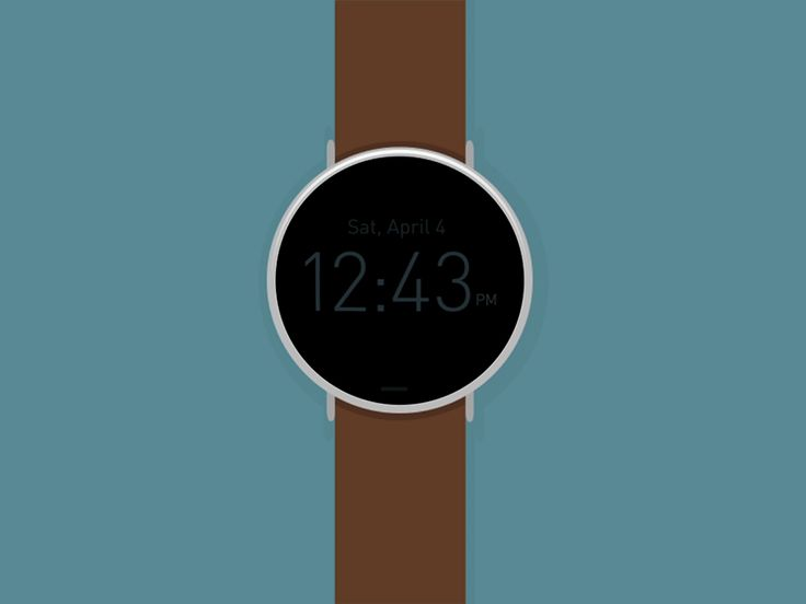 Watch Interface Animation | Wearable Tech User Interface Design