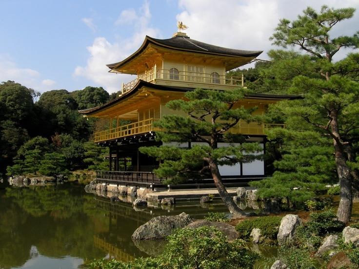 Kinkaku-ji (金閣寺 Temple of the Golden Pavilion?), also known as Rokuon-ji (鹿苑寺 Deer Garden Temple?), is a Zen Buddhist temple in Kyoto, Japan.