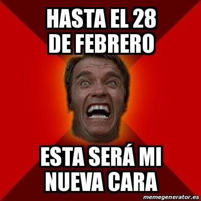 Meme Arnold - hasta el 28 de febrero esta será mi nueva cara - 15071884