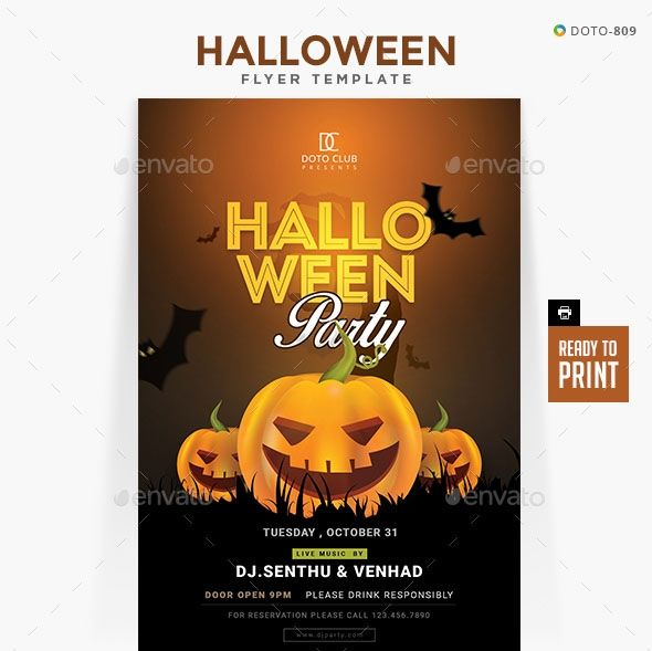 Free Printable Halloween Flyer Templates