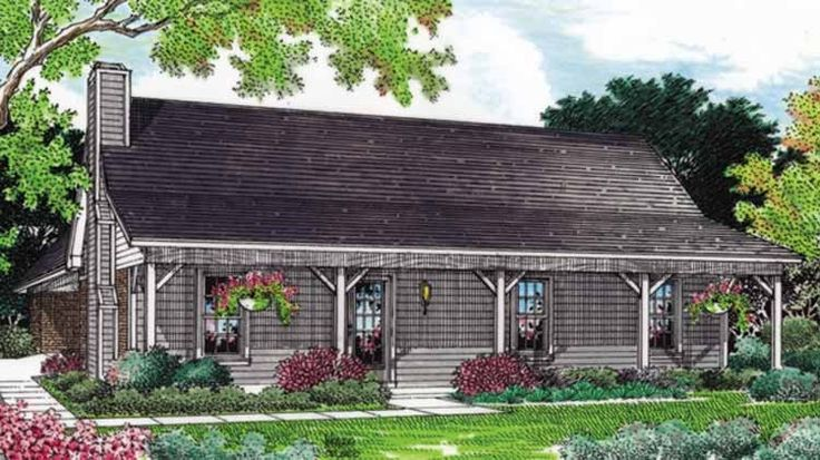 Eplans Farmhouse House Plan Relaxed Country Style 1244