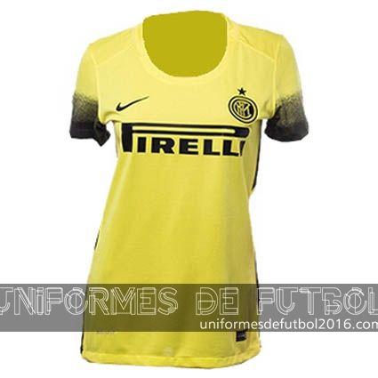 Jersey tercera para uniformes de futbol para mujeres Inter Milan 2015-16  | uniformes de futbol economicos