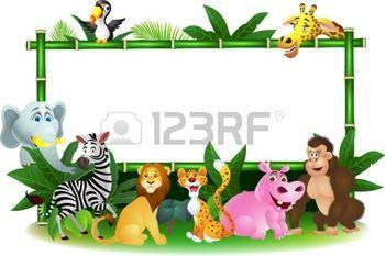 Illustration de dessin anim� des animaux avec le signe vierge photo