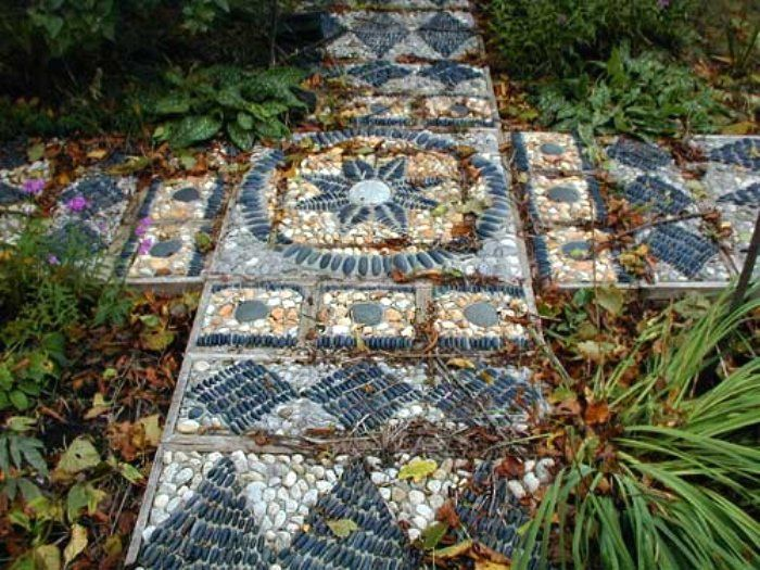 pebble mosaic path by Anne Roberts of Toronto