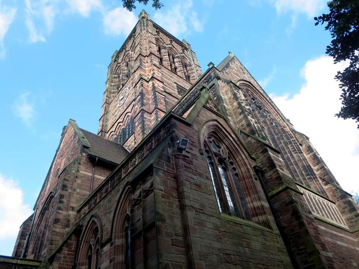 St Matthew and St James Parish Church (1875) on Mossley Hill is near Sudley House in southeast Liverpool, England.