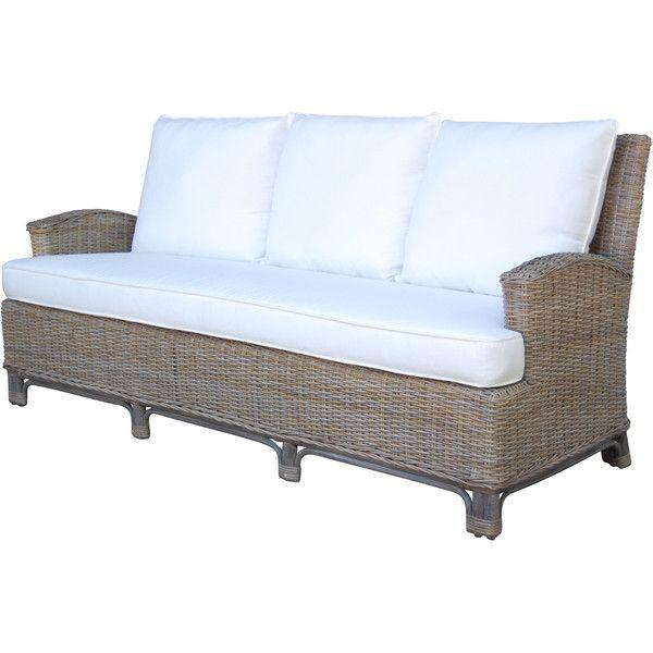 Panama Jack Exuma Sofa with Cushions ($1,277) ❤ liked on Polyvore featuring home, furniture, sofas, brown, panama jack, eco friendly sofa, outdoor sofa, oversized sofa and panama jack furniture