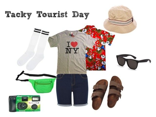 """""""Spirit Week- Tacky Tourist Day"""" by adams-reagan-gca on Polyvore featuring Oasis, Birkenstock, Burberry and RetroSuperFuture"""