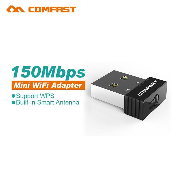 10pcs 150Mbps Mini USB WiFi Adapter in 2dB Antenna Gain Wireless Network Card LAN 802.11n/g/b wps LAN Adapter For Laptop Desktop