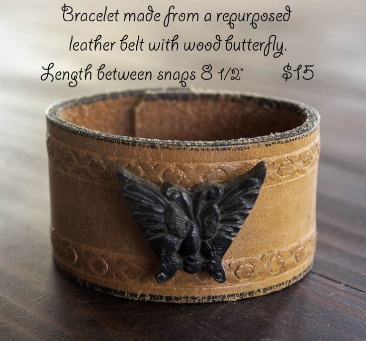 15 bracelet made from repurposed leather belt bracelets Repurposed leather belts