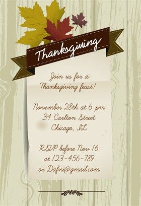 8 best thanksgiving invites images on pinterest invites brown thanksgiving printable invitation template customize add text and photos print stopboris Images