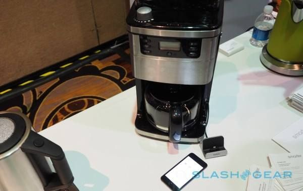 Wifi Coffee Maker With An App!  A coffee machine with built-in WiFi and its own app may not be the weirdest connected gadget CES 2015 has for us, but it could be one of the most useful.