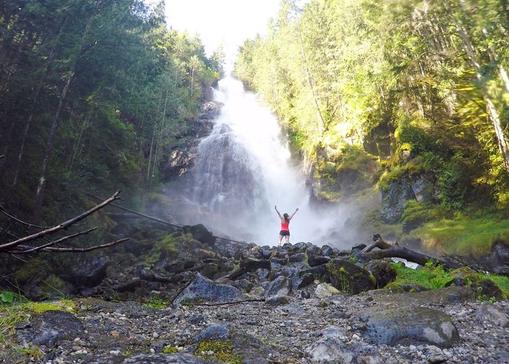 Don't miss Kay Falls, a beautiful hidden waterfall on the Trans-Canada Highway in the North Okanagan-Shuswap. It's an easy hike, perfect for everyone!