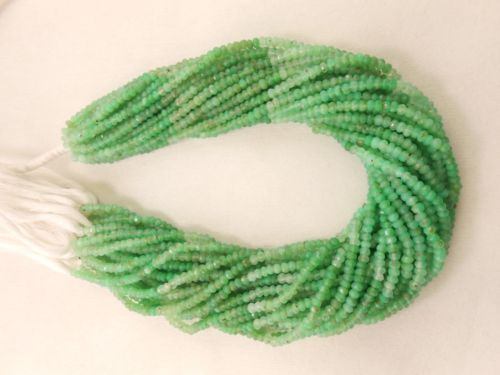 AAA-Full-13-Chrysoprase-gemstone-faceted-rondelle-beads-strand-3MM-4MM-Beads