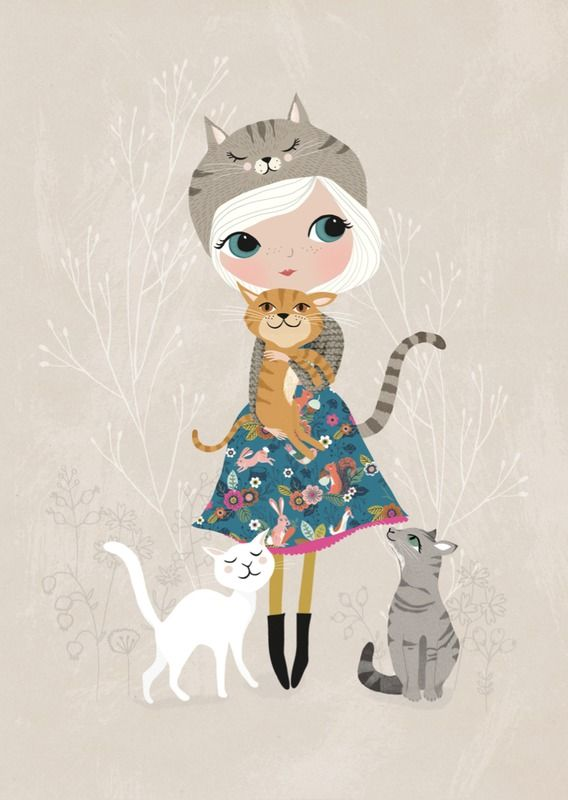 Rebecca Jones 'A4 Poster Cat Lover'